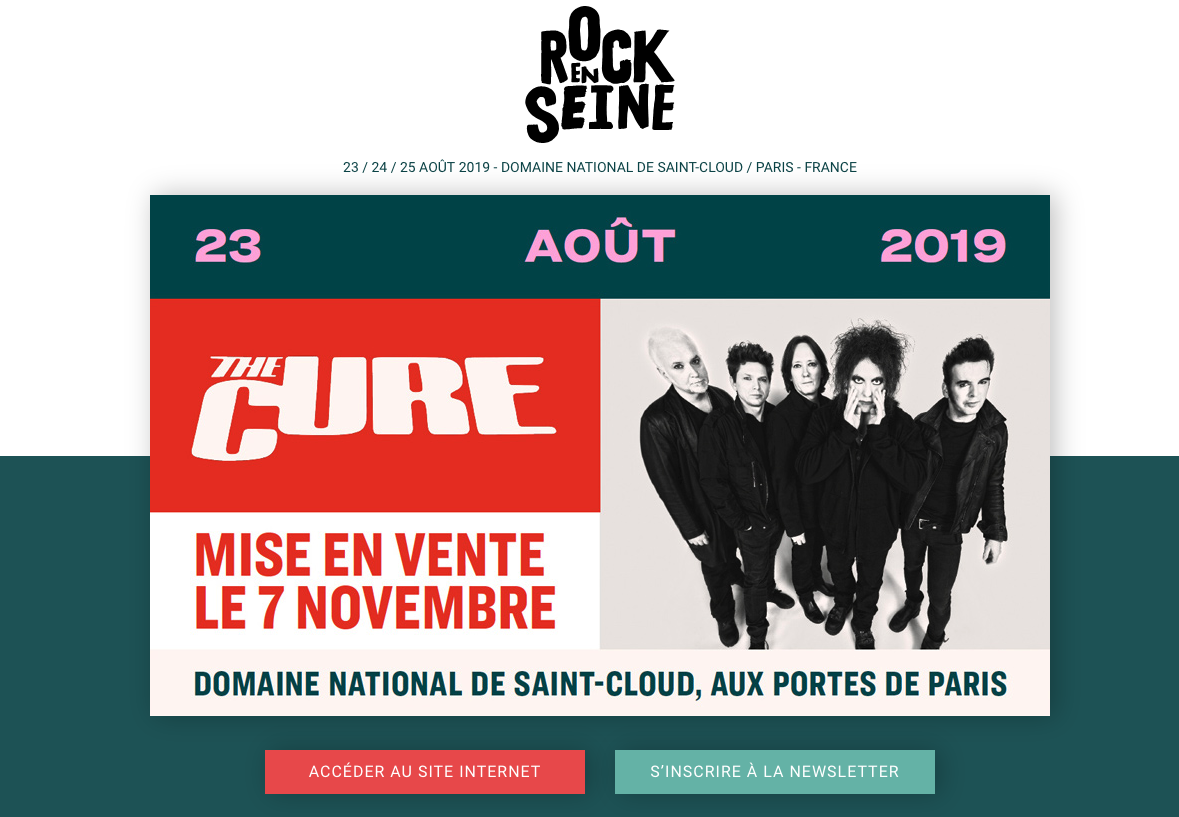 the cure rock en seine