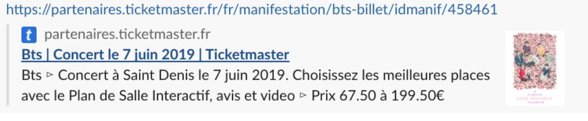 Toutes les infos sur le package VIP pour le concert de BTS à Paris 1