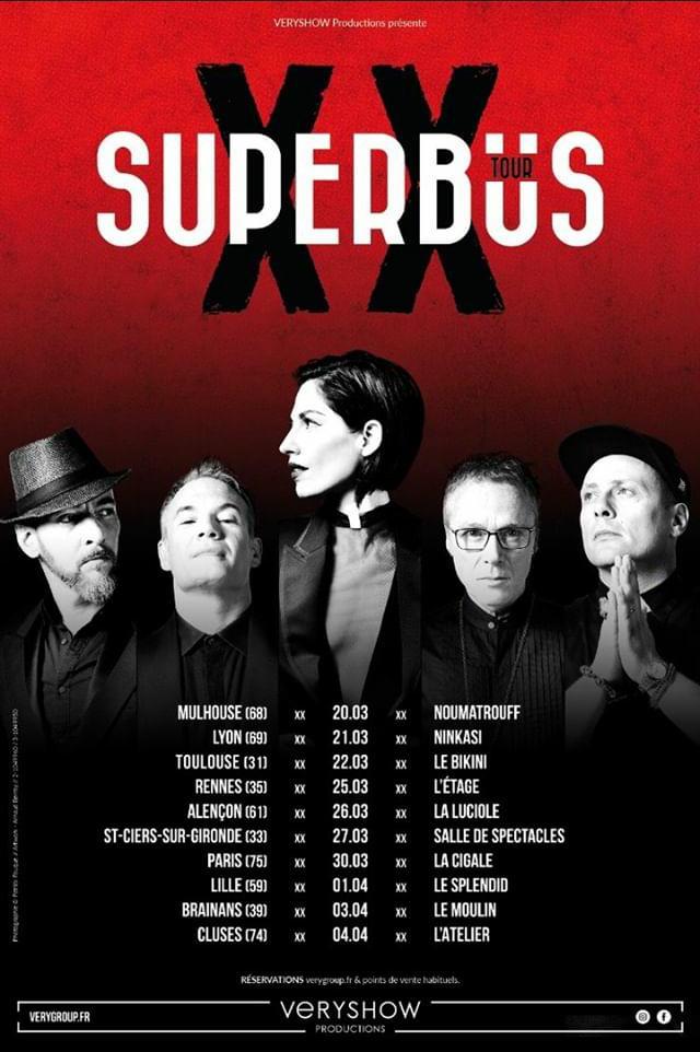 Superbus s'envole pour une tournée française en 2020 !
