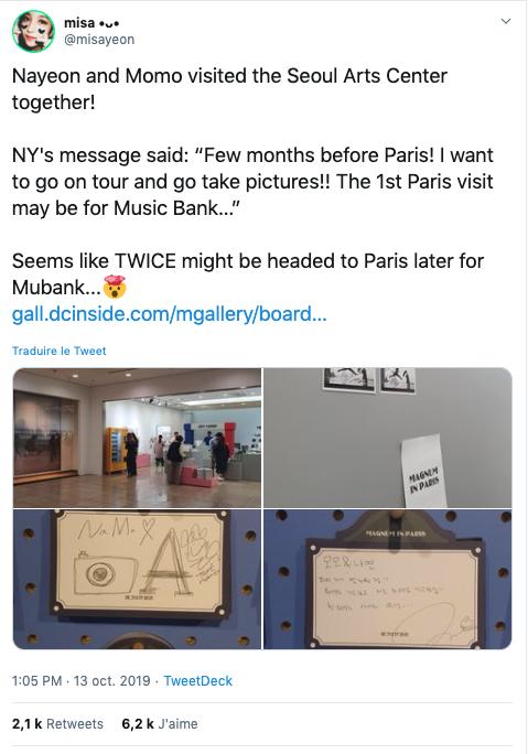 Le Music Bank 2020 pourrait se dérouler à Paris en compagnie de Twice ! 1