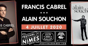 Cet été, le Festival de Nîmes vous offre une soirée Francis Cabrel/Alain Souchon 9