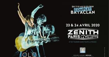 Jean-Louis Aubert rajoute deux Zénith de Paris en avril 2020 à sa tournée 6