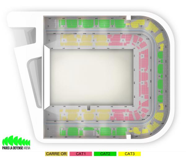 Iron Maiden en concert à la Paris Défense Arena en juillet 2020 : bien choisir sa place, voici le plan de salle ! 2