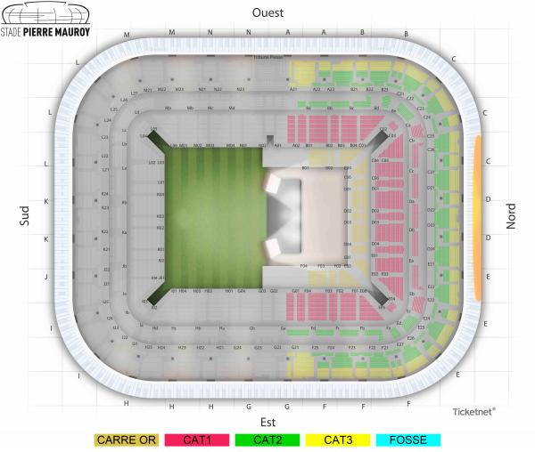 Paul McCartney en concert à Lille au stade Pierre Mauroy en mai 2020 : voici le plan de salle, choisissez votre place ! 2