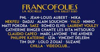 Nouvelle fournée de beaux noms pour les Francofolies 2020 avec Nekfeu, Laurent Voulzy, Vald, Philippe Katerine... 6