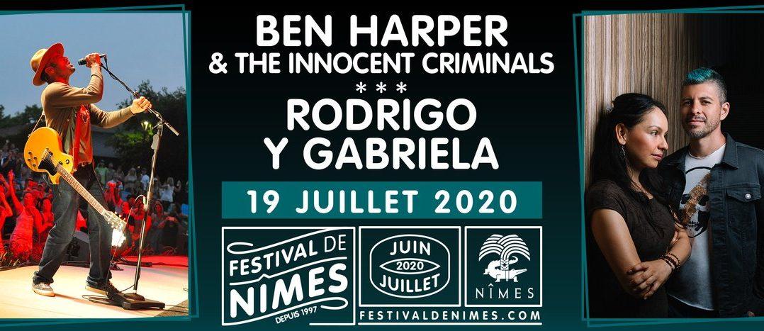 Belle soirée en perspective cet été au Festival de Nîmes avec Ben Harper et Rodrigo Y Gabriela ! 1