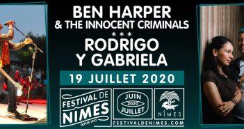 Belle soirée en perspective cet été au Festival de Nîmes avec Ben Harper et Rodrigo Y Gabriela ! 5