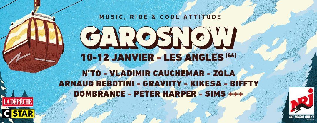 Le festival Garosnow vous promet de la neige et du bon son avec Kikesa, N'To, Zola, GRAViiTY, Dombrance... 1