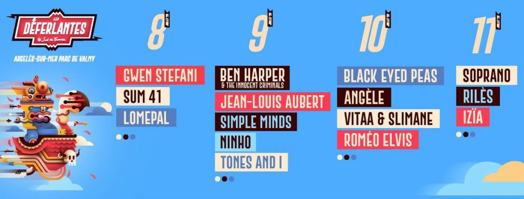 Deuxième vague de noms pour les Déferlantes 2020 : Gwen Stefani, Black Eyed Peas, Sum 41, Ben Harper... 2