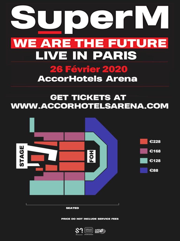 SuperM en concert à l'AccorHotels Arena de Paris en février 2020 : on a le plan de salle 5