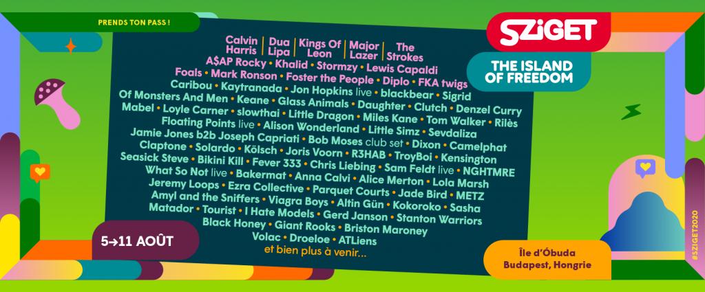 Le Sziget Festival revient dans nos vies avec les premiers 80 noms de son impressionnante édition 2020 ! 2