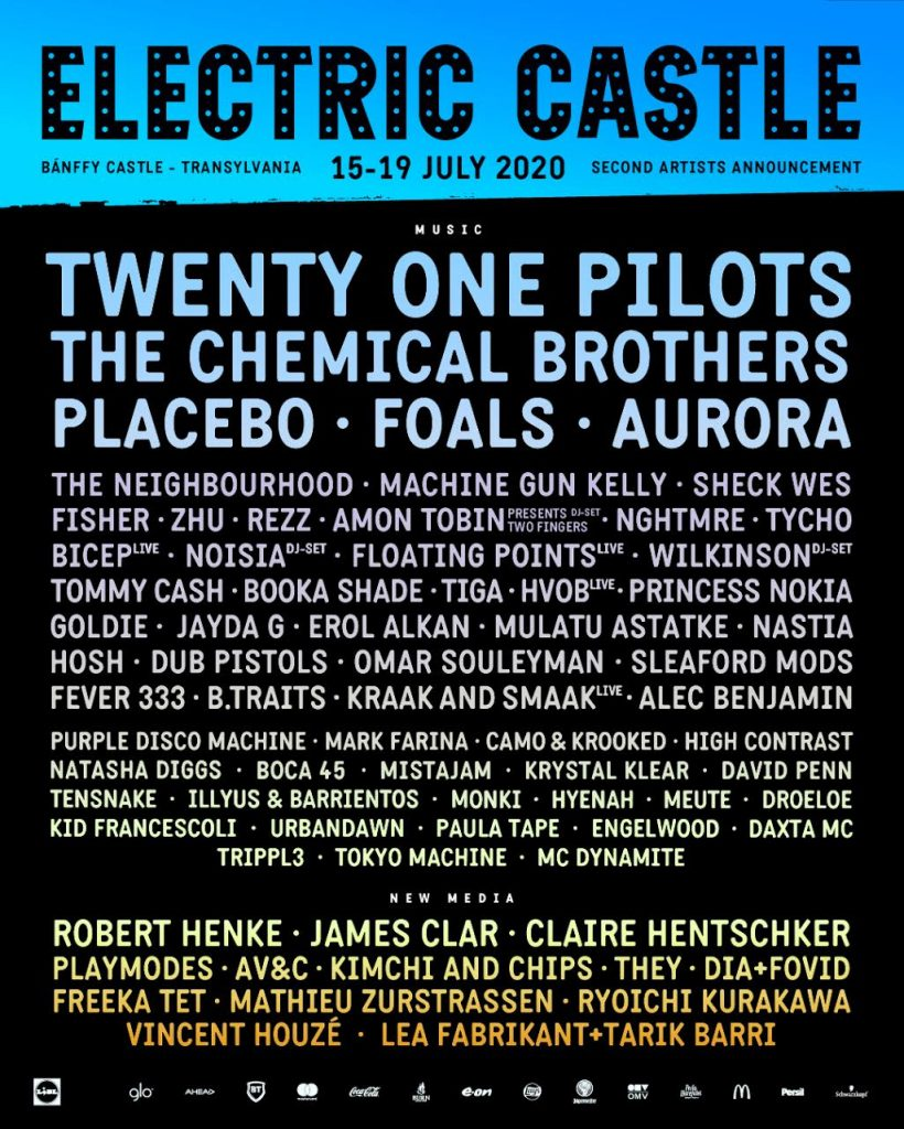 Electric Castle 2020 ajoute de nouveaux noms : The Chemicals Brothers, Aurora, Placebo, Sheck Wes... 2