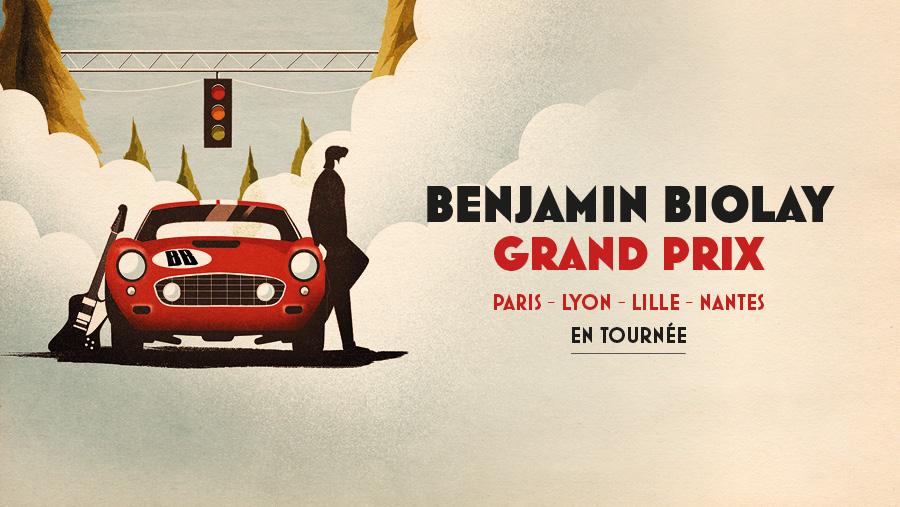 Benjamin Biolay donne le départ de son Grand Prix