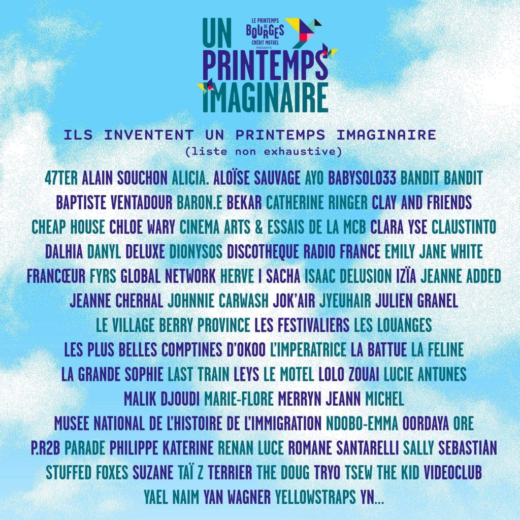 A cause de l'épidémie de Covid-19, le Festival du Printemps de Bourges se réinvente et propose le Printemps Imaginaire  ! 1