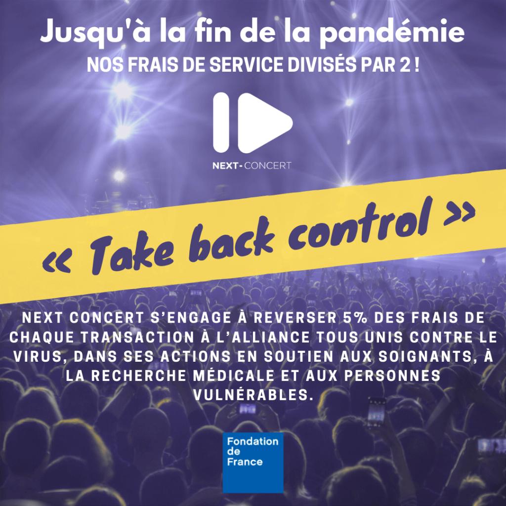 """Avec Next Concert, retrouvons le chemin des salles de concerts et soutenez l'Alliance """"Tous unis contre le virus""""! 1"""