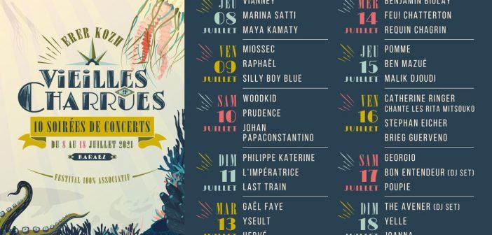 Le festival des Vieilles Charrues 2021 accueillera 10 soirées de concerts avec Hervé, Benjamin Biolay, Vianney, Woodkid, Pomme, Stephan Eicher, Yseult…