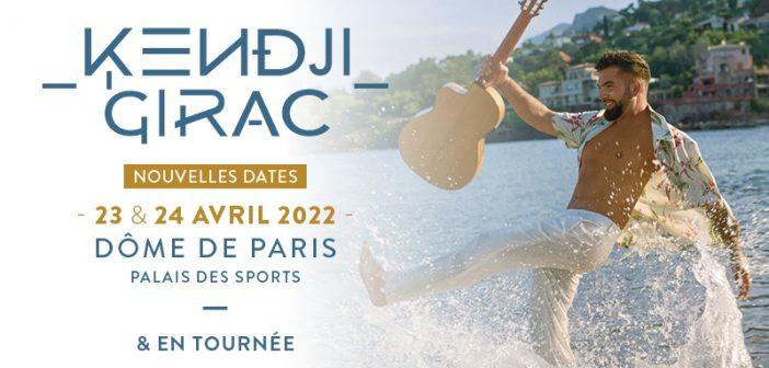 Kendji Girac rajoute 2 concerts au Dôme de Paris en avril 2022 !