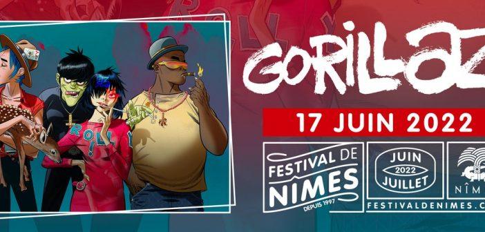Mauvaise nouvelle, Gorillaz reporte son concert au Festival de Nîmes en juin 2022 !