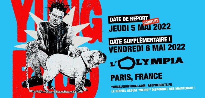 Yungblud reporte son concert l'Olympia de Paris en mai 2022, et comme il est complet, il en rajoute un 2e