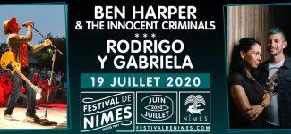Belle soirée en perspective cet été au Festival de Nîmes avec Ben Harper et Rodrigo Y Gabriela !